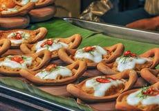 与咖喱酱的泰国被蒸的鱼 图库摄影