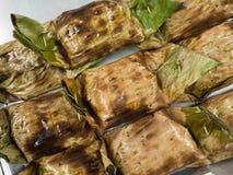 与咖喱酱,泰国食物的被蒸的鱼 免版税库存照片