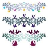 与响铃和丝带的圣诞节装饰 库存图片