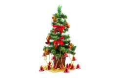 与响铃的圣诞树 免版税库存图片