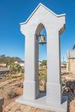 与响铃的钟楼在荷兰人在Williston改革了教会 图库摄影