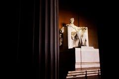 与唯一柱子的林肯纪念堂 免版税库存图片