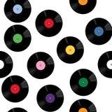 与唱片的模式 免版税库存照片