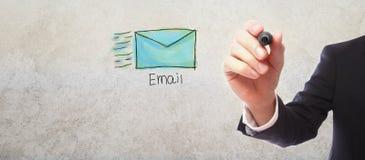 与商人的电子邮件 图库摄影