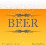 与啤酒题材的横幅 免版税库存照片