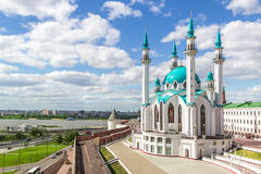 与喀山清真寺的风景 免版税库存图片