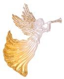 与喇叭装饰的天使 图库摄影