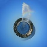 与喷泉,日内瓦,瑞士的行星 免版税图库摄影