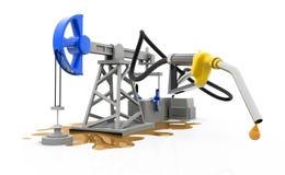 与喷管的油泵浦起重器 库存图片