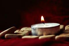 与囊和蜡烛的诗歌 库存图片