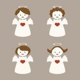 与四个天使的色的背景 库存图片
