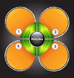 与四文本框的介绍模板 免版税库存图片