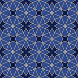 与四束对称的抽象几何装饰品 库存例证