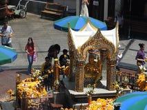 与四面对的菩萨的Erewan寺庙 图库摄影