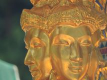 与四面对的菩萨的Erewan寺庙 库存图片