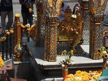 与四面对的菩萨的Erewan寺庙 免版税库存图片