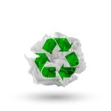 与回收符号的纸张 库存图片