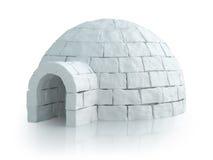 与园屋顶的小屋的北欧风景 免版税库存照片