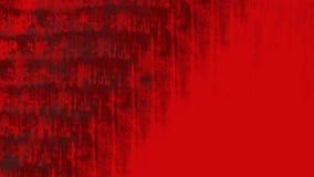 与困厄的冲程和滴水的明亮的红色难看的东西背景 免版税图库摄影