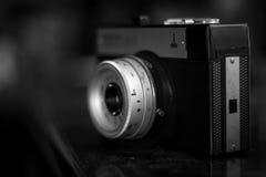 与固定的透镜的照相机 库存图片