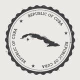 与国家地图的古巴行家圆的不加考虑表赞同的人 向量例证