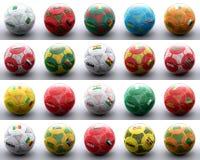 与国家非洲标志的球  免版税库存图片