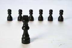 与国王棋子的抽象企业概念 免版税图库摄影