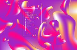 与图和形状网站的,包装,海报,广告牌,广告的抽象多彩多姿的全息照相的3D背景 库存例证