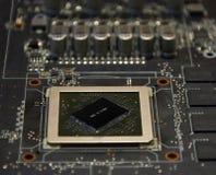 与图形处理器单位的电子计划没有作为主要目的致冷机 免版税图库摄影