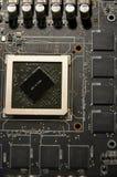 与图形处理器单位的电子计划没有作为主要目的致冷机 免版税库存照片