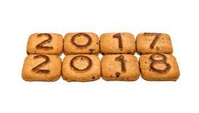 与图的曲奇饼2018年 免版税库存照片