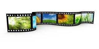 与图象的Filmstrip 库存照片