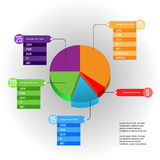 与图饼和语篇框架图的创造性的infographic模板 免版税库存照片