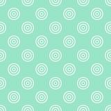 与圆形的传染媒介无缝的逗人喜爱的样式 免版税库存图片