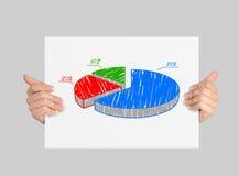 与圆形统计图表的海报 免版税图库摄影