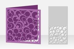 与圆样式的卡片激光切口的 剪影设计 免版税库存图片