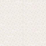 与圆点的无缝的几何样式在白色背景 免版税图库摄影