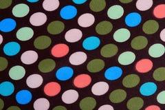 与圆点的织品 免版税库存照片