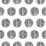 与圆点纹理的无缝的样式 免版税库存照片