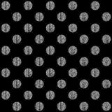 与圆点纹理的无缝的样式 免版税库存图片