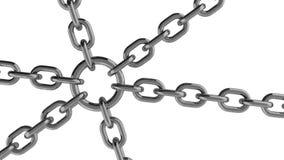 与圆环安全元素的链连接 库存照片