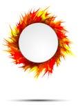 与圆的框架的明亮和五颜六色的秋天横幅在生动的油漆飞溅 库存照片