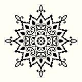 与圆装饰品的装饰坛场 库存例证