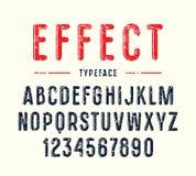 与圆角落的装饰狭窄的sanserif字体 库存例证
