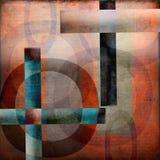 与圈子和十字架的摘要 库存照片