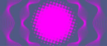 与圈子和波浪的抽象背景 皇族释放例证