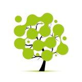 与圈子框架的抽象树的您的设计 免版税库存照片