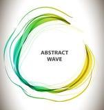 与圈子波浪的抽象五颜六色的背景 免版税库存照片