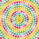 与圈子的几何背景由五颜六色的三角做成 向量例证