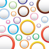 与圈子的抽象五颜六色的背景。 免版税库存照片